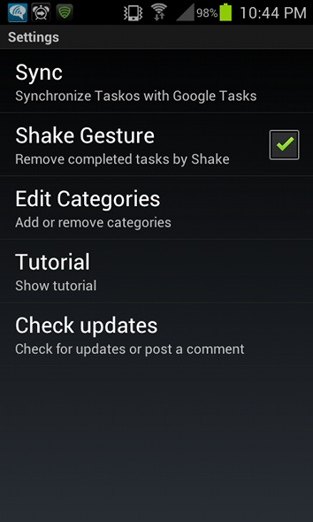 taskos task manager for your android device