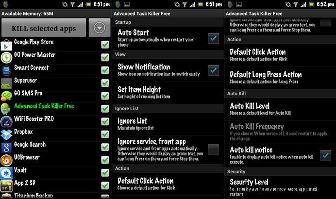Advanced Task Killer- task manager for android phone