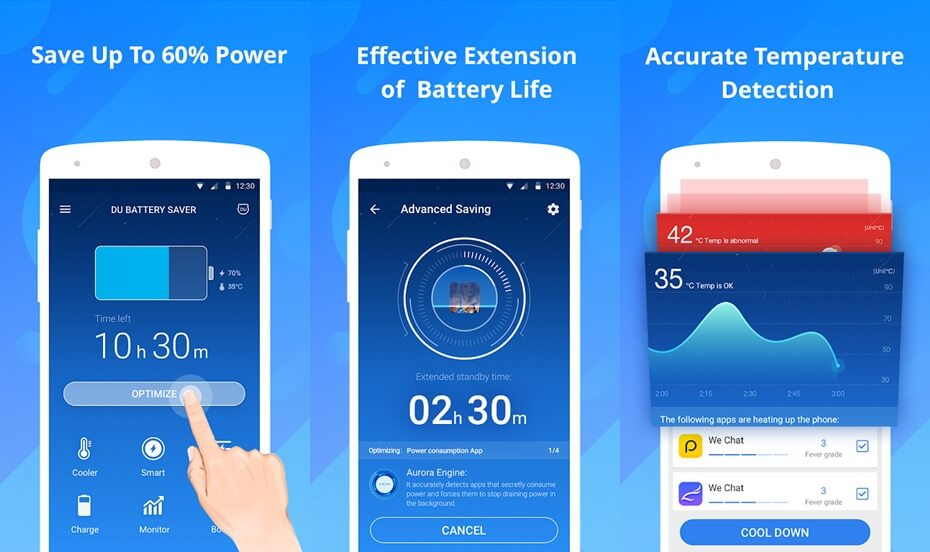 DU Battery Saver - Best Android Battery Optimizer Tool