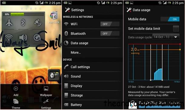 How To set data limit on android device