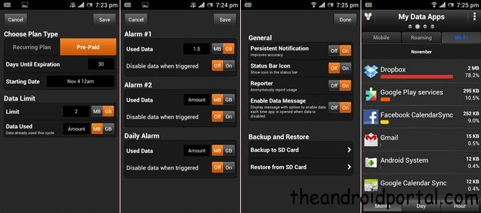 Set data limit for all android device