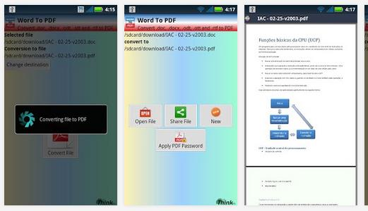 PDF converter for Android Tablet
