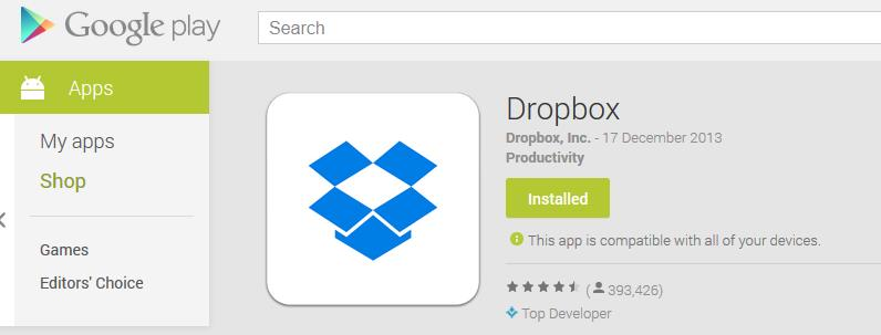 Dropbox For Android – Best Cloud Storage For Android