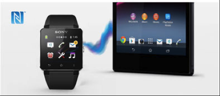 The Android compatible Sony SmartWatch 2 with One-touch NFC