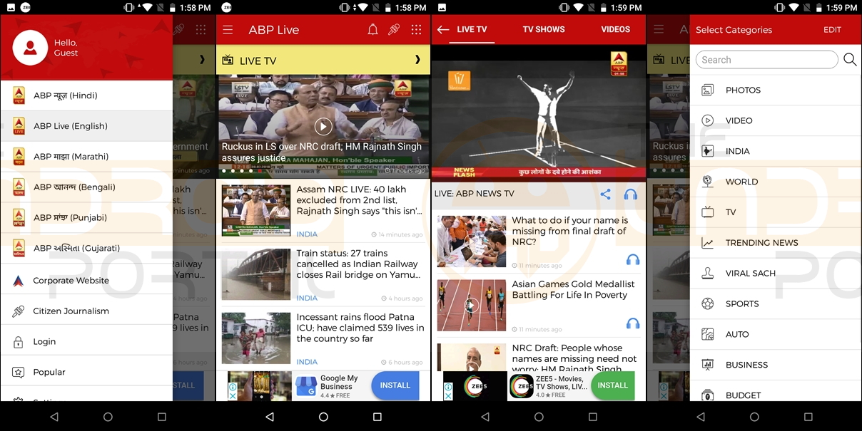 Top 5 Live News Android Apps Free Download