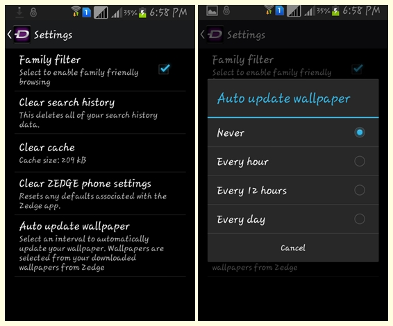 Download Ringtones Change Wallpapers automatically with Android Zedge app