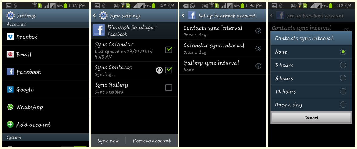 Delete Facebook Contacts from Android