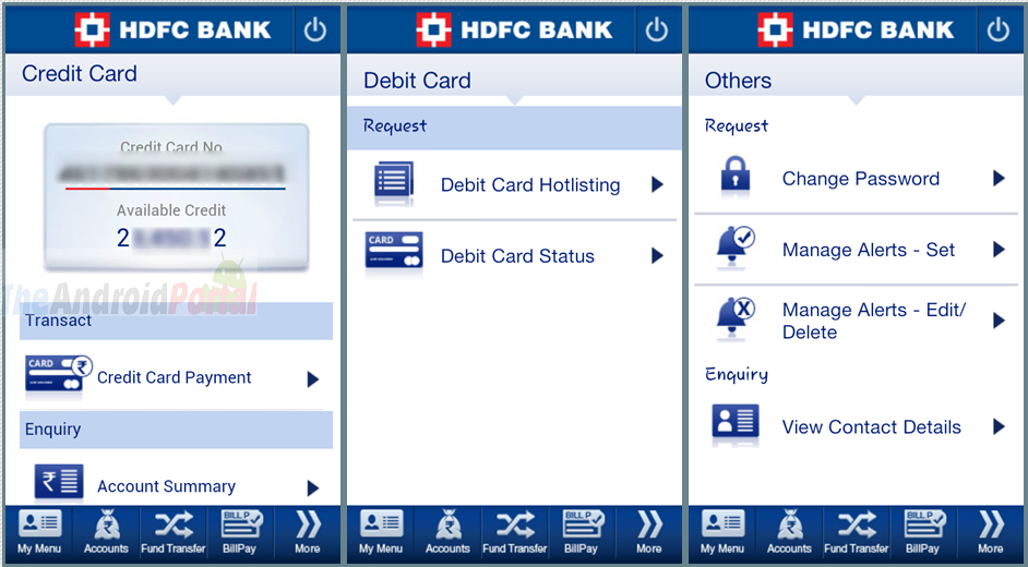 online money transfer hdfc credit card