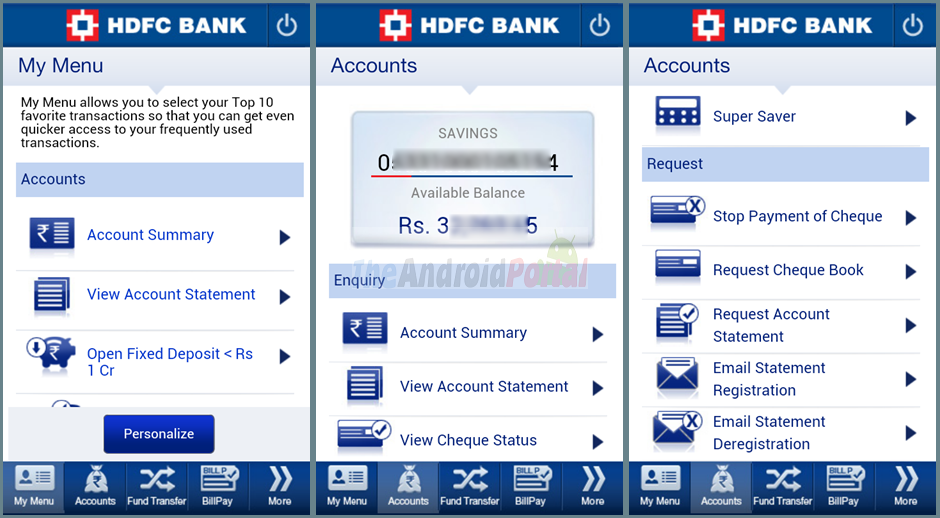 HDFC Bank MobileBanking Review - Official HDFC Android App