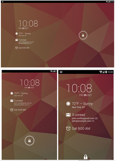 Android Lock Screen Widget
