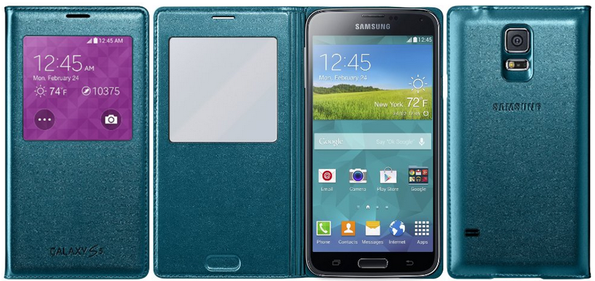 Green Flip Covers for Samsung Galaxy S5