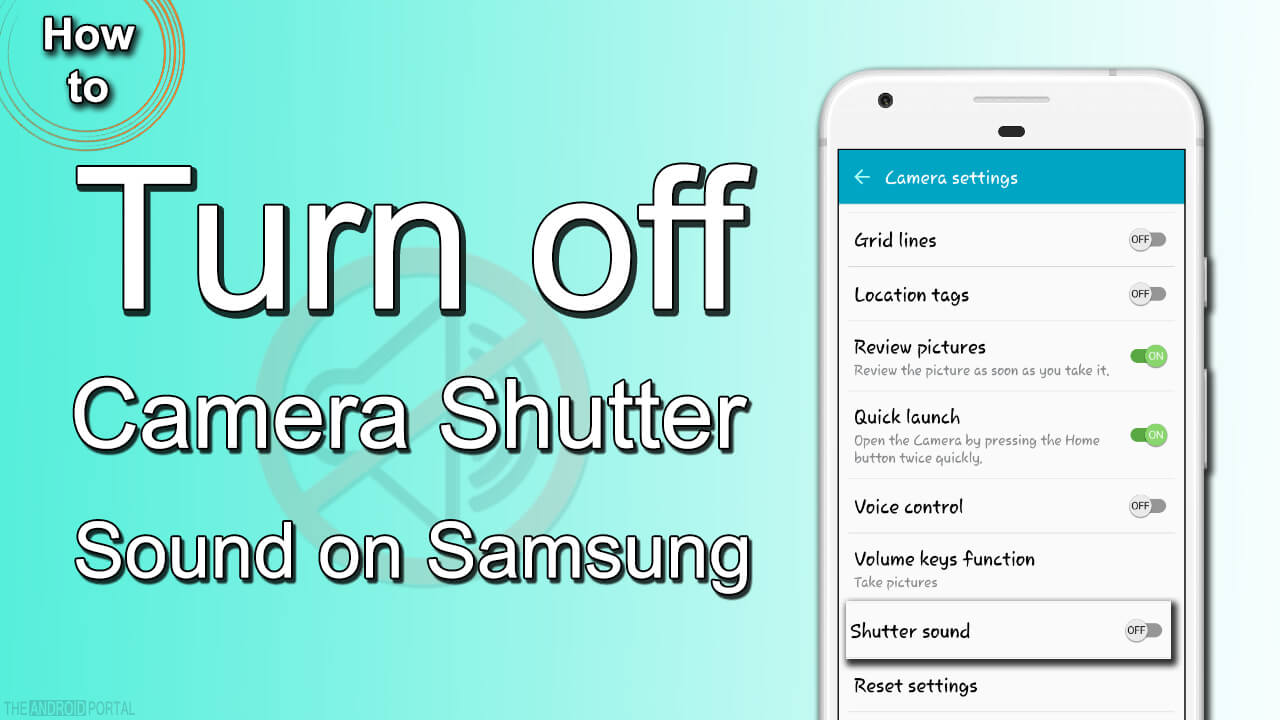 How to Turn off Camera Shutter Sound on Samsung