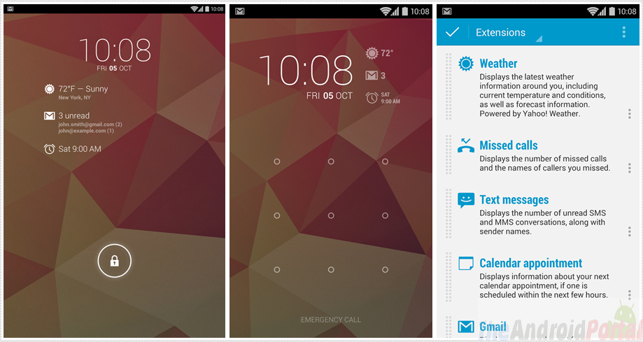 Lock Screen Widget for Android Smartphones