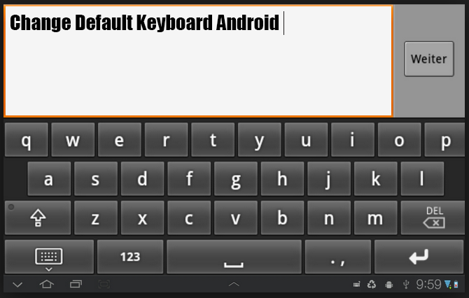 How to Change Default Keyboard Android - theandroidportal.com