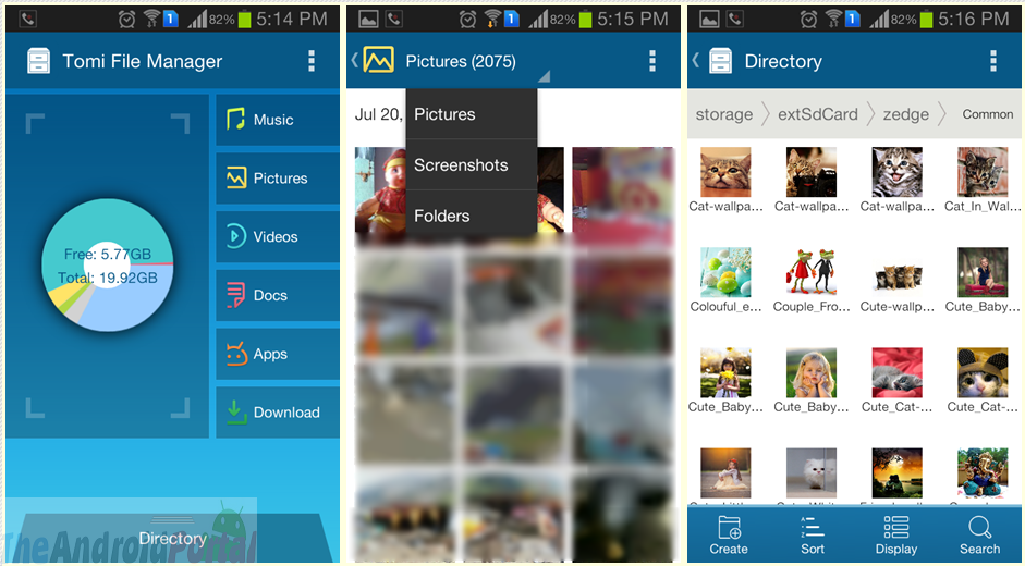 Tomi File Manager for Android – App for Managing Files with File Types, Root File Explorer