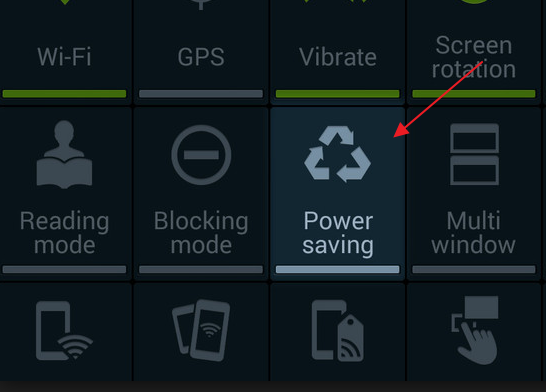 Turning ON the Power Saving Mode on Galaxy S4