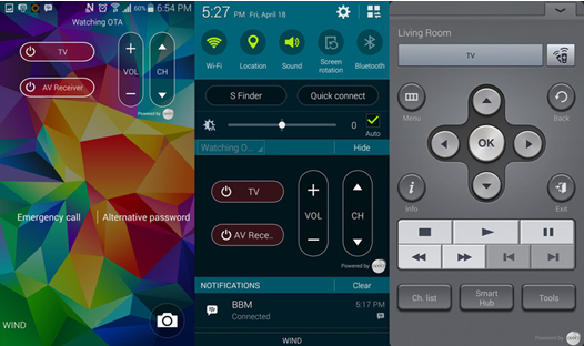 Use your Galaxy S5 as a TV remote