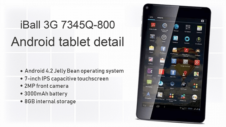 iBall 3G 7345Q-800 Android tablet detail - theandroidportal.com