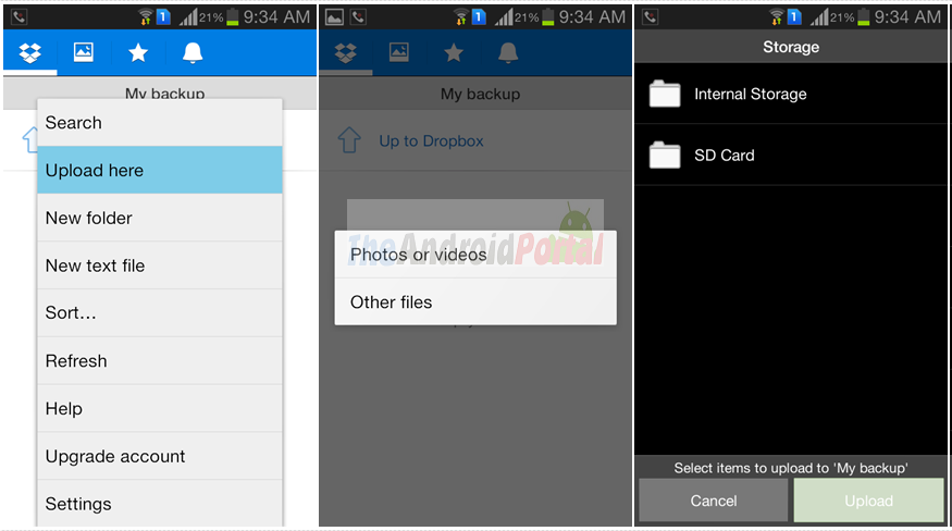 Backup Android SD Card to Dropbox