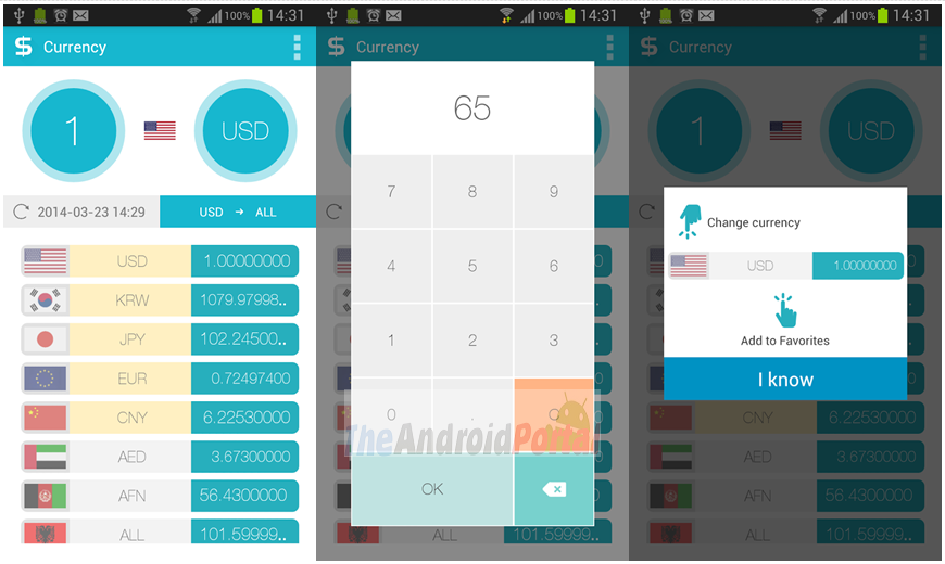 Just Currency android app