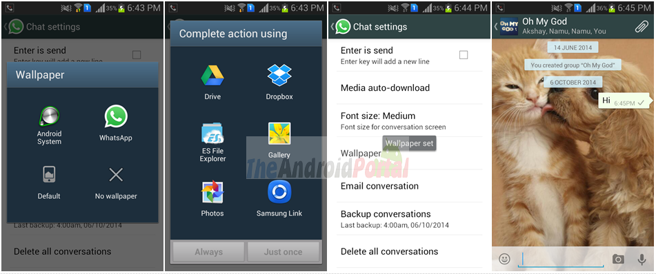 How To Change Whatsapp Background