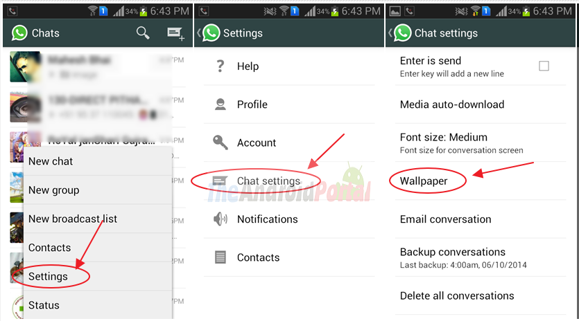 How To Change Whatsapp Background Wallpaper