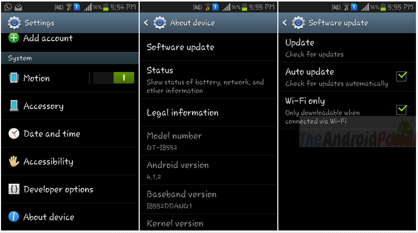 Update Android Phone Manually