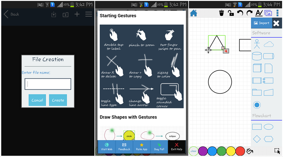 Flow Charts & Diagrams Android Apps - DrawExpress Diagram Lite