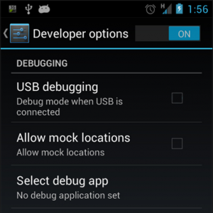 USB Debugging Option in Android device
