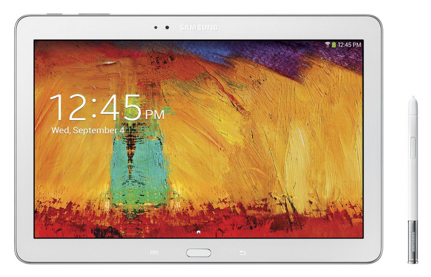 Samsung Galaxy Note White tablet