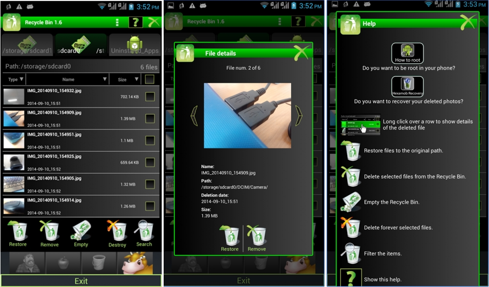 How to Undelete photos on Android