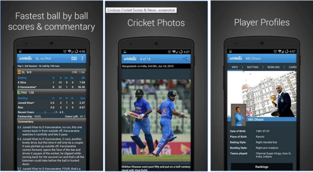 Check Ball by Ball Live Cricket Score on Android