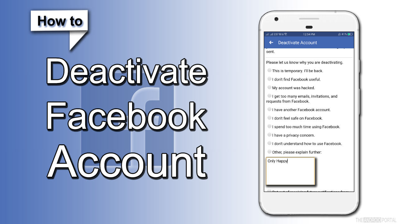 How Do I Deactivate My Facebook Account on Android