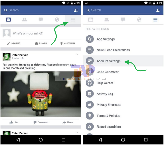 How do i deactivate my facebook account on android how to deactivate a facebook ccuart