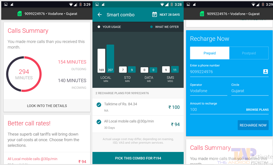 recharge using smartapp for android