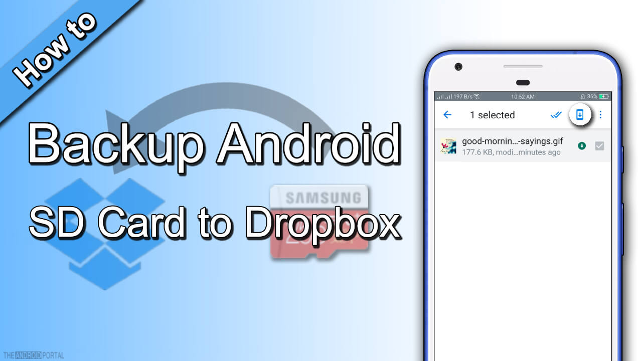 How to Backup Android SD Card to Dropbox