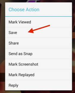 Save Snapchat on Android