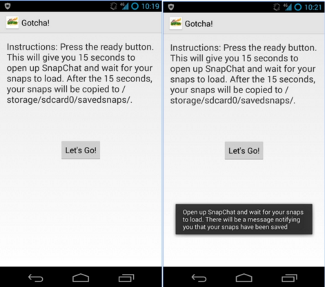 Snapsafe App for android
