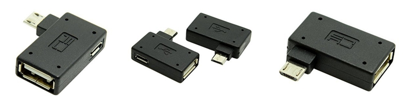 CY 90 Degree Left Angled Micro USB device