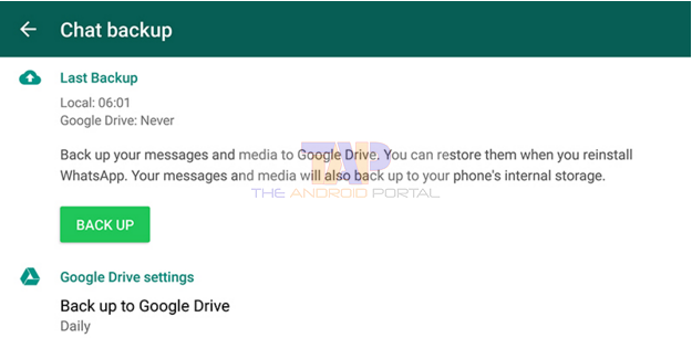 Whatsapp to Google Drive