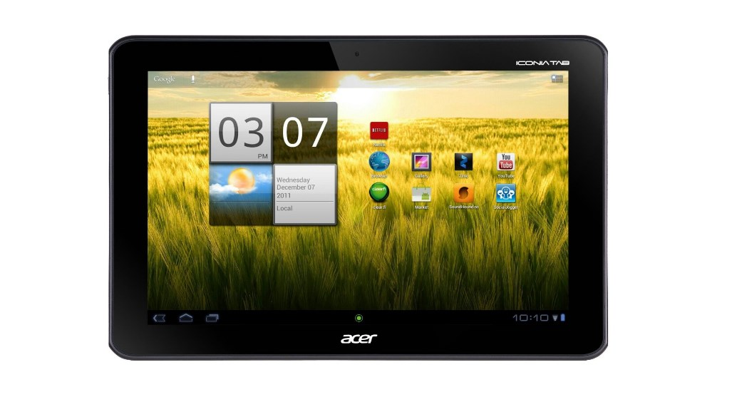 The Acer Iconia Tab A200 tablet