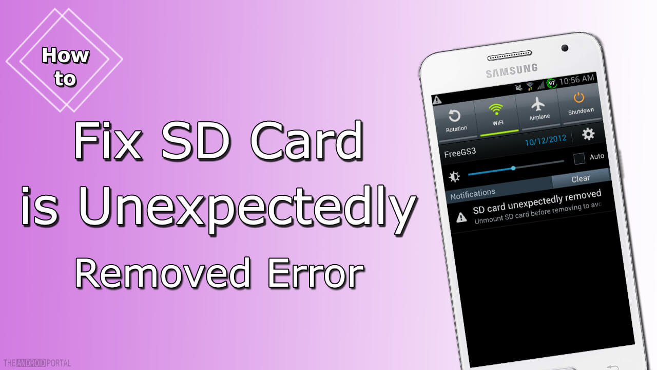 How to Fix SD Card is Unexpectedly Removed Error