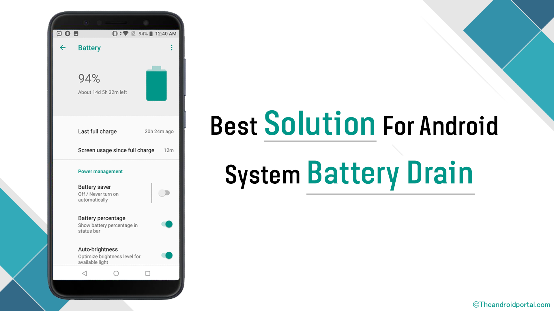 Best Solution For Android System Battery Drain - theandroidportal.com