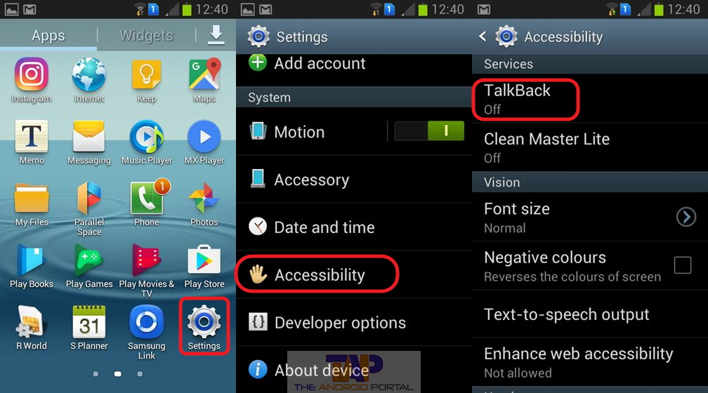 How to Turn off Talkback Feature on Android - TheAndroidPortal