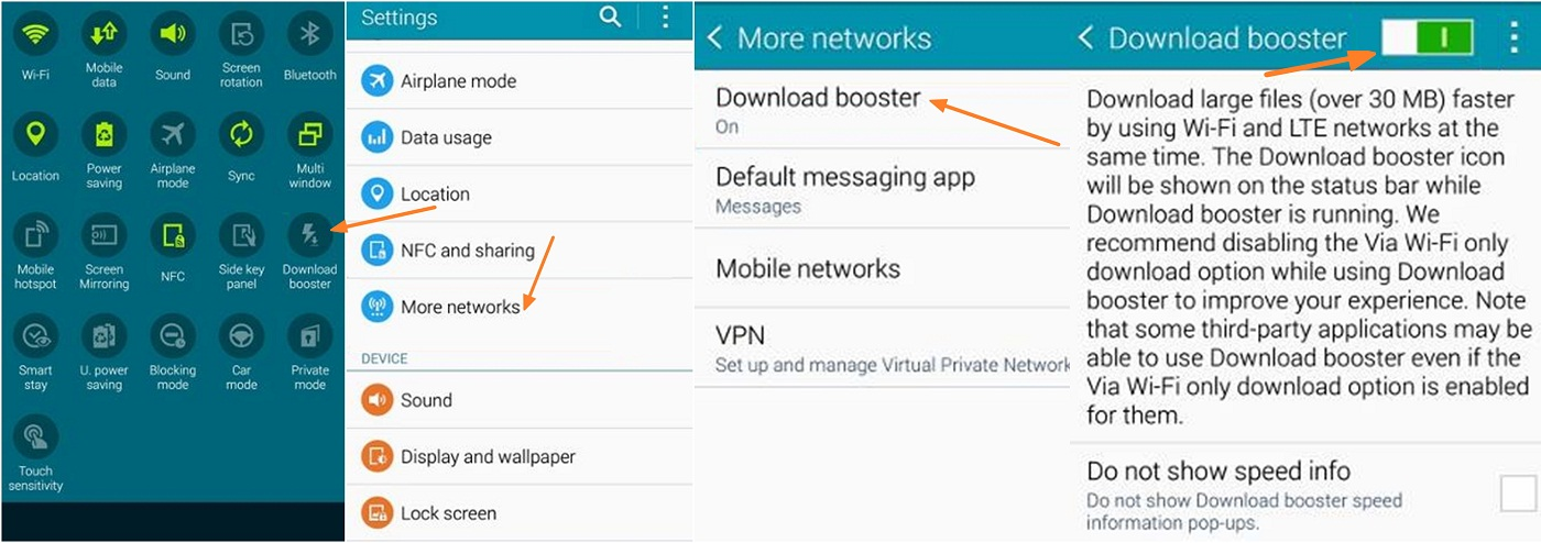 How to Enable Download Booster in Galaxy Note 4 Device