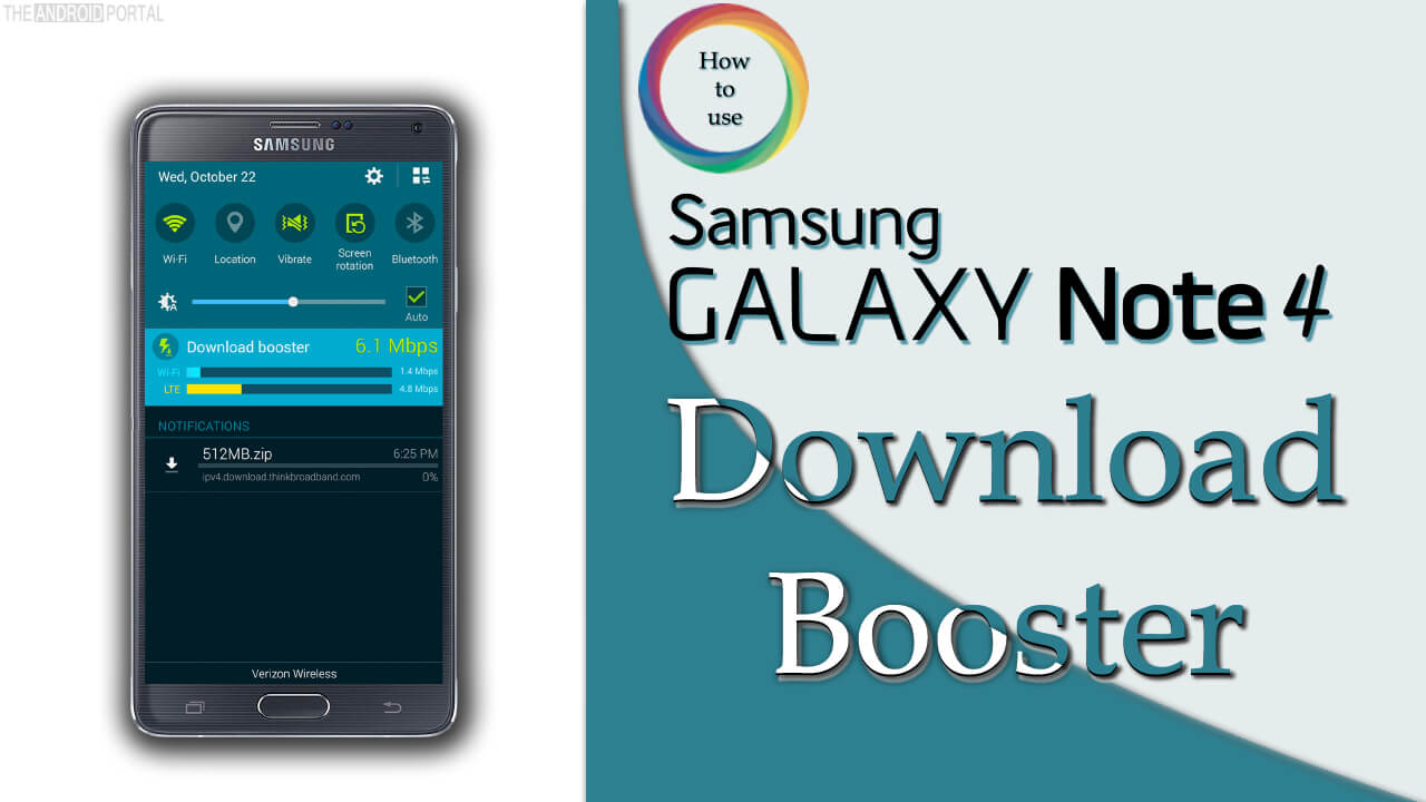 How to Use Galaxy Note 4 Download Booster