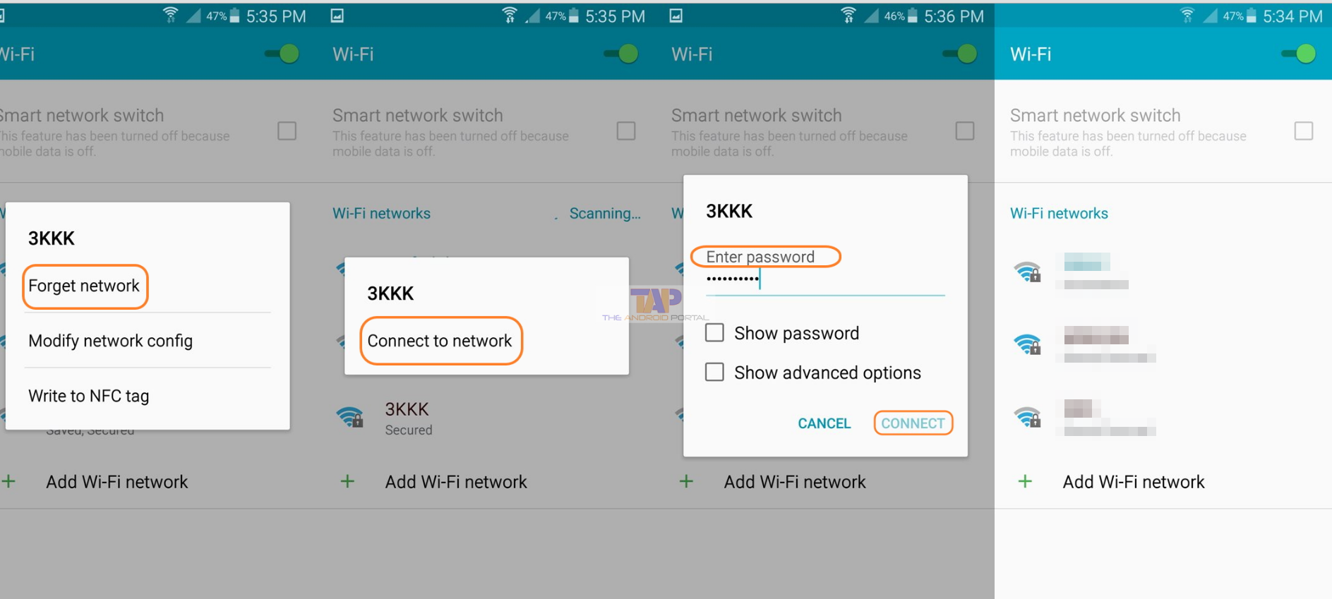 Reconnecting with the Wi-Fi Network