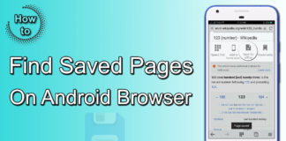 Where Can I Find Saved Pages On My Android Browser