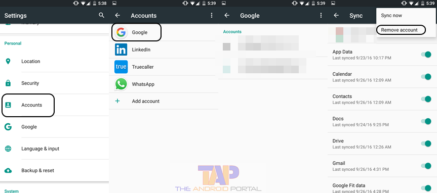 How to change account on play store