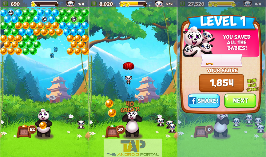 panda pop android game